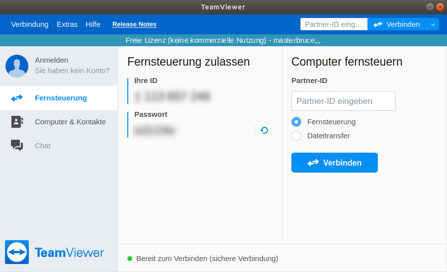 Screenshot 1 - TeamViewer (Linux)