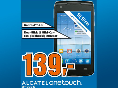 Alcatel One Touch 992D Orange ©Saturn