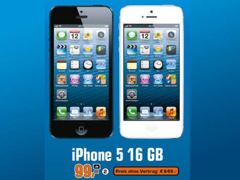 Apple iPhone 5 16GB Schwarz ©Saturn