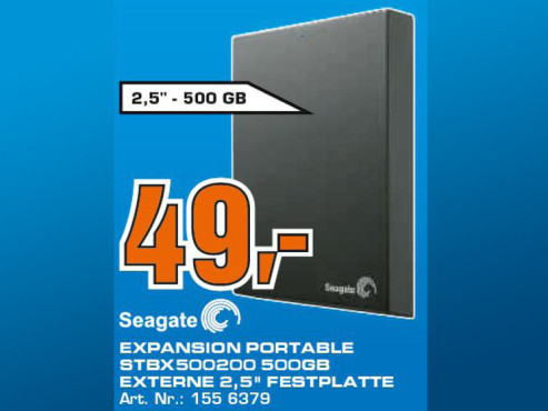 Seagate Expansion Portable 500GB ©Saturn