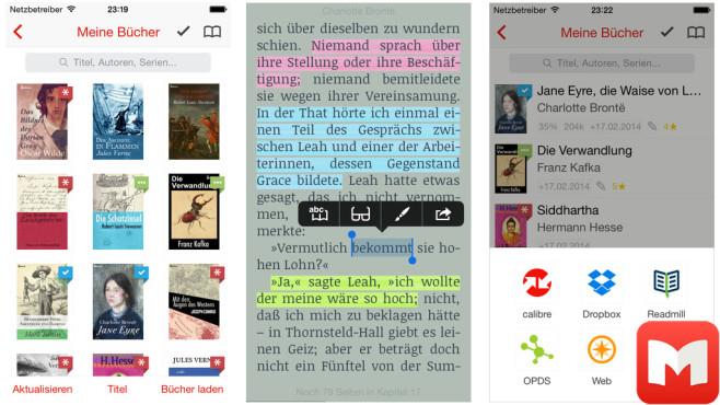 Marvin – eBook Reader for epub ©Appstafarian