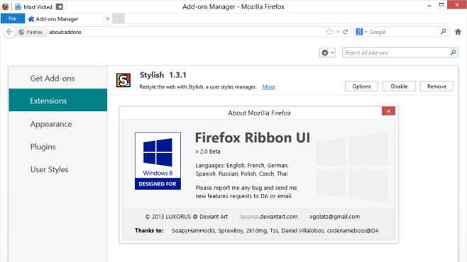 Ribbon-GUI: Die beste Ribbon-Software zum kostenlosen Download©https://sourceforge.net/projects/fireribbon/