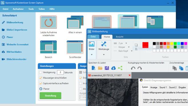 Apowersoft Free Screen Capture ©COMPUTER BILD