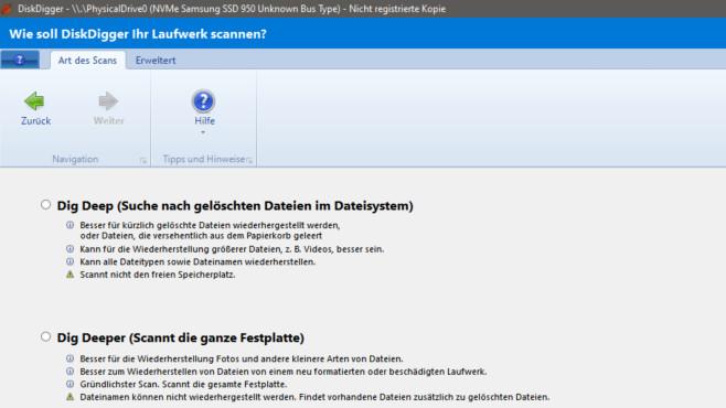 DiskDigger: Gelöschte Dateien wiederherstellen ©COMPUTER BILD