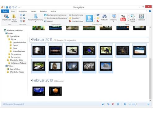 Windows Fotogalerie 2012 ©COMPUTER BILD