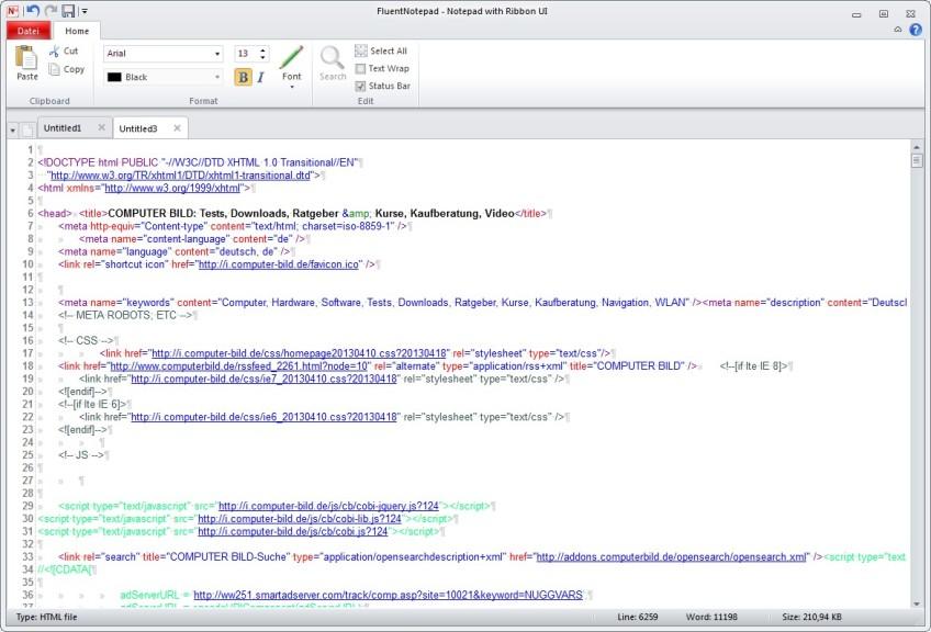 Screenshot 1 - FluentNotepad