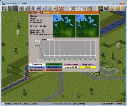 Simulation Simutrans ©Simutrans-Team
