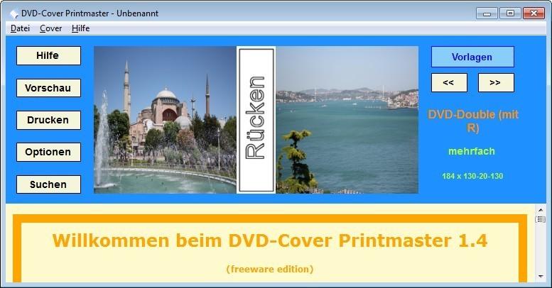 Screenshot 1 - DVD-Cover Printmaster