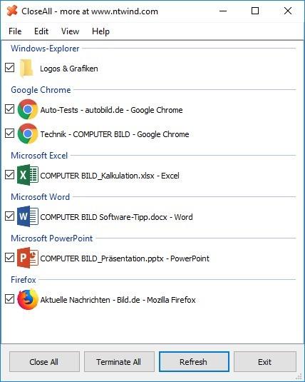 Screenshot 1 - CloseAll