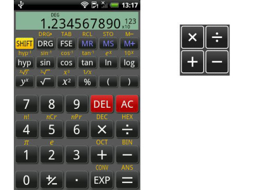 RealCalc Scientific Calculator © Quartic Software