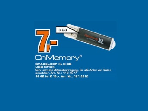 CNMEMORY Spaceloop XL 8GB © Saturn