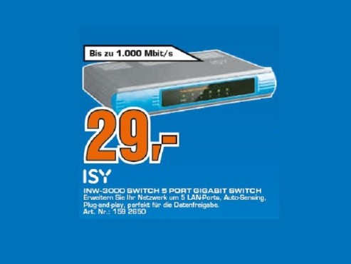 ISY INW 3000 5 Port Gigabit © Saturn