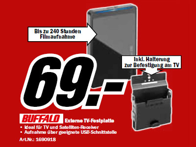 Buffalo Bundle MiniStation HD-PC500U2/BK-EU © Media Markt