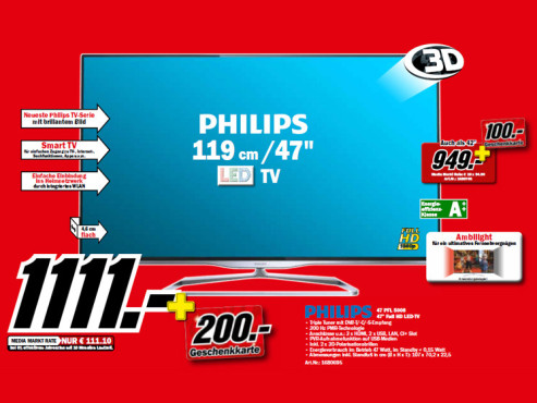 Philips 47PFL5008K © Media Markt