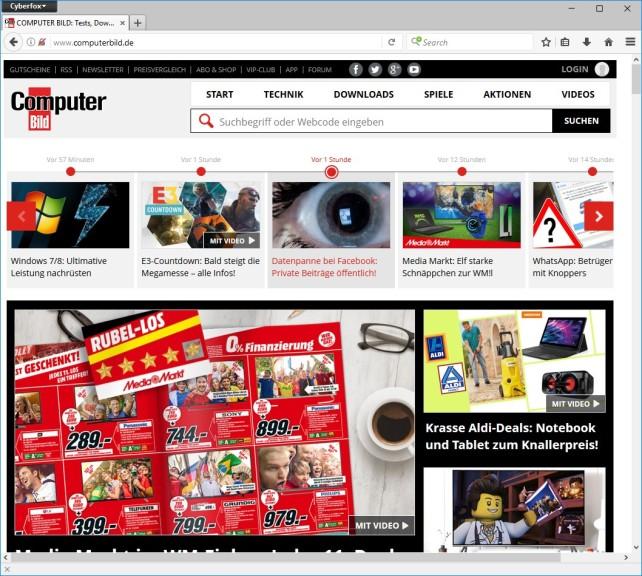 Screenshot 1 - Cyberfox