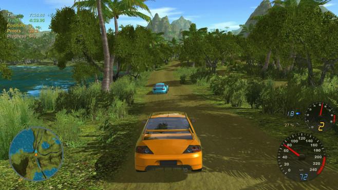 Rennspiel Stunt Rally: Dschungelstrecke ©Vdrift-ogre
