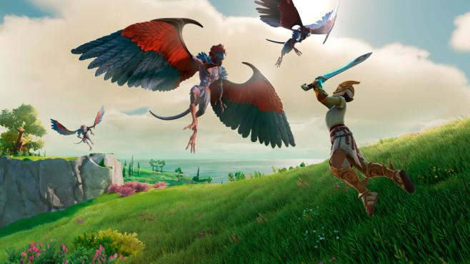 E3 2019: Die Spiele-Hits von EA, Microsoft, Ubisoft, Square Enix, Bethesda und Nintendo In dem Überraschungshit aus dem Hause Ubisoft schlüpft der Spieler in die Rolle von Fenyx, der die griechischen Götter retten muss.©Gods & Monsters