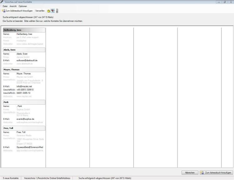 Screenshot 1 - IntelliAddress Free