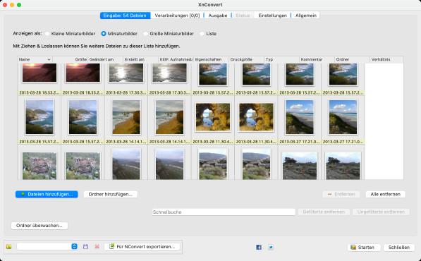 Screenshot 1 - XnConvert (Mac)