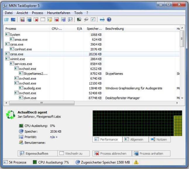 Screenshot 1 - MKN TaskExplorer
