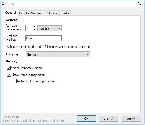 Screenshot 1 - DeskTask für Outlook