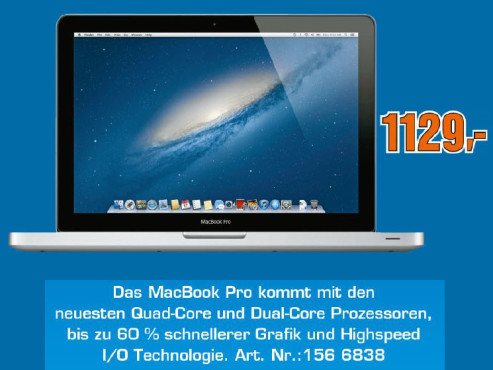 """Apple MacBook Pro 13"""" ©Saturn"""