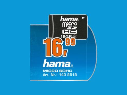 Hama microSDHC 16GB Class 6 ©Saturn