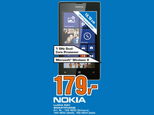 Nokia Lumia 520 ©Saturn