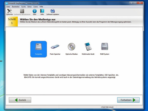 Ontrack Easy Recovery Home © COMPUTER BILD