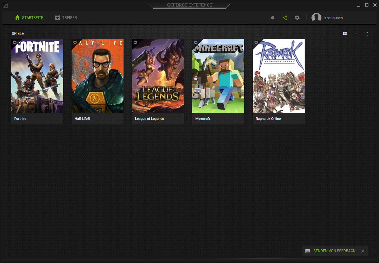 Screenshot 1 - Nvidia GeForce Experience