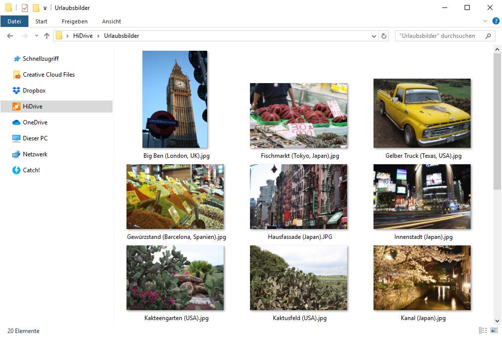 Screenshot 1 - Strato HiDrive