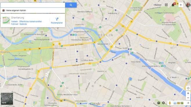 Das neue Google Maps ©Google
