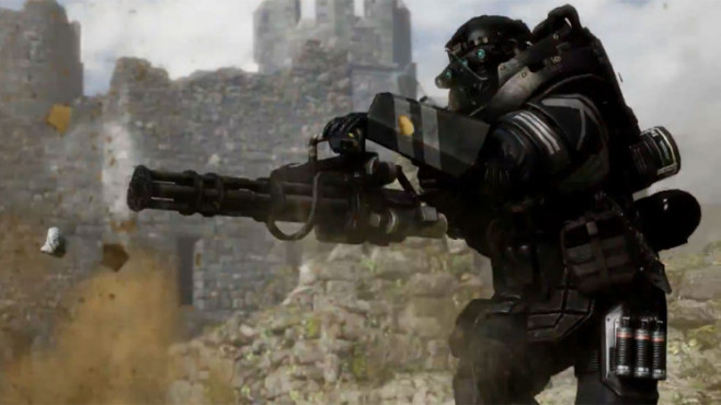 Actionspiel Call of Duty – Ghosts: Mini-Gun ©Activision