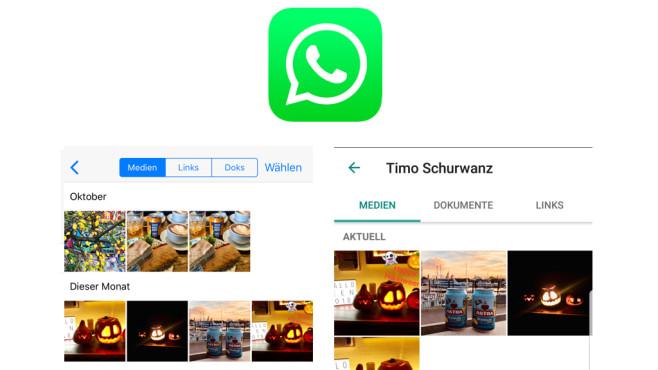 WhatsApp: Alle Medien eines Chats einblenden ©WhatsApp, COMPUTERBILD