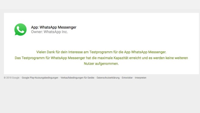 WhatsApp: An Beta teilnehmen © WhatsApp, COMPUTERBILD