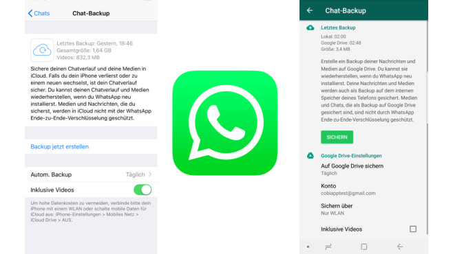 WhatsApp: Backup erstellen © WhatsApp, COMPUTERBILD