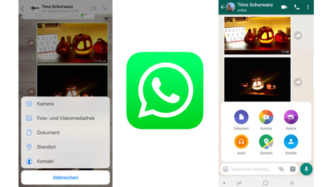 WhatsApp: Bilder verschicken © WhatsApp, COMPUTERBILD