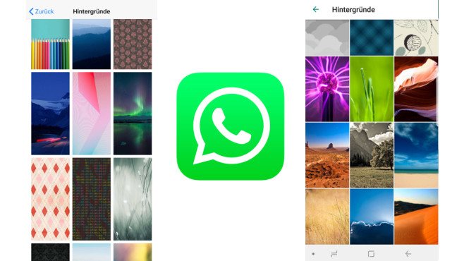 WhatsApp: Chat-Hintergrundbild © WhatsApp, COMPUTERBILD