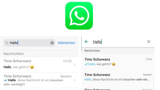 WhatsApp: Chats nach einem Begriff absuchen ©WhatsApp, COMPUTERBILD