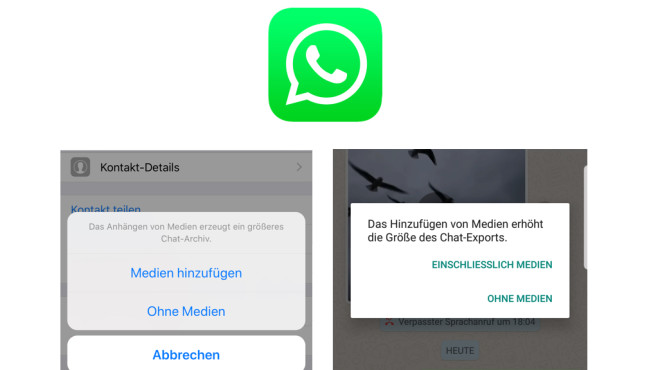 WhatsApp: Chats per E-Mail senden © WhatsApp, COMPUTERBILD