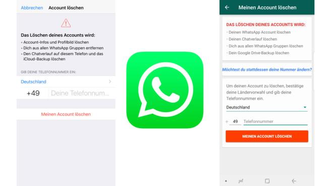 WhatsApp: Konto löschen ©WhatsApp, COMPUTERBILD