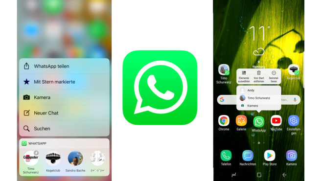 WhatsApp: Mehr Kontext mit 3D Touch und Co. © WhatsApp, COMPUTERBILD