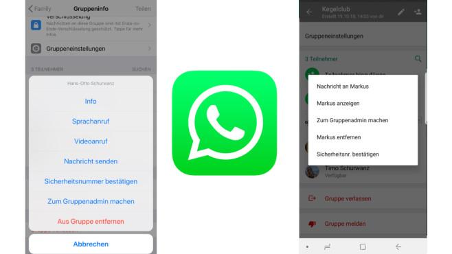 WhatsApp: Neue Gruppen-Admins benennen ©WhatsApp, COMPUTERBILD