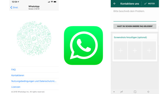 WhatsApp: Probleme melden © WhatsApp, COMPUTERBILD