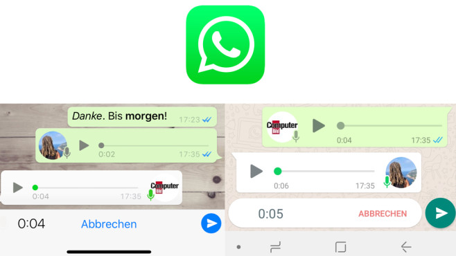 WhatsApp: Sprachnachricht verschicken © WhatsApp, COMPUTERBILD