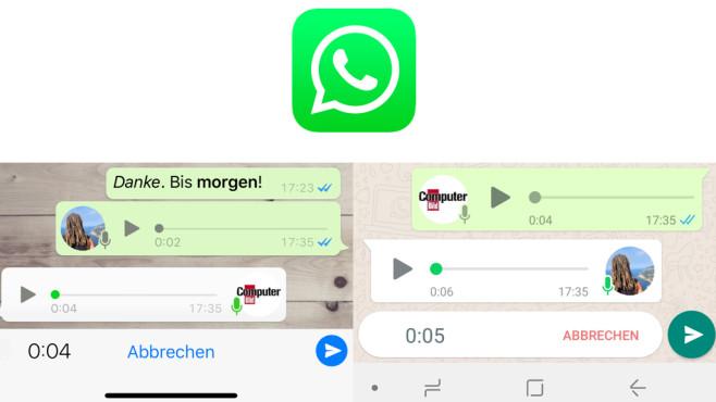 WhatsApp: Sprachnachrichten leise abhören ©WhatsApp, COMPUTERBILD