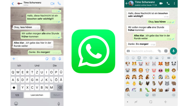 WhatsApp: Texte formatieren © WhatsApp, COMPUTERBILD