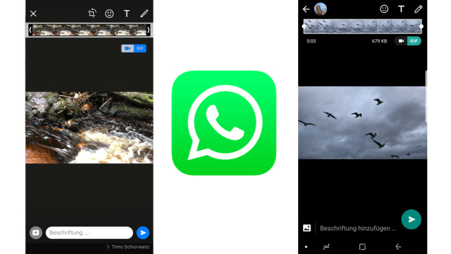 WhatsApp: Video als GIF verschicken © WhatsApp, COMPUTERBILD