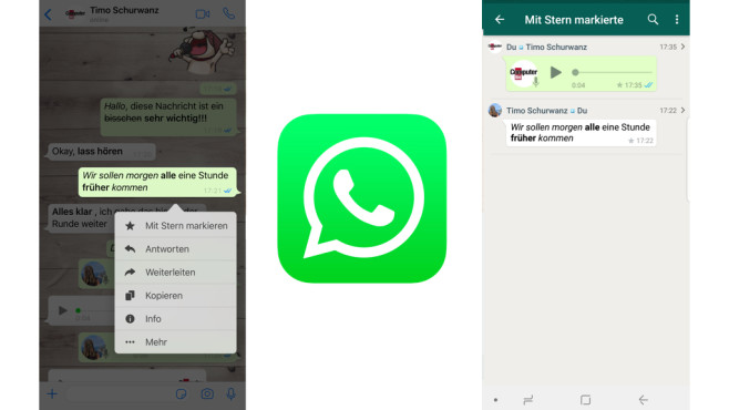 WhatsApp: Wichtiges markieren ©COMPUTER BILD