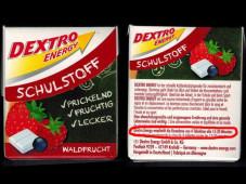 Dextro Energy Produkt Schulstoff©Foodwatch.org